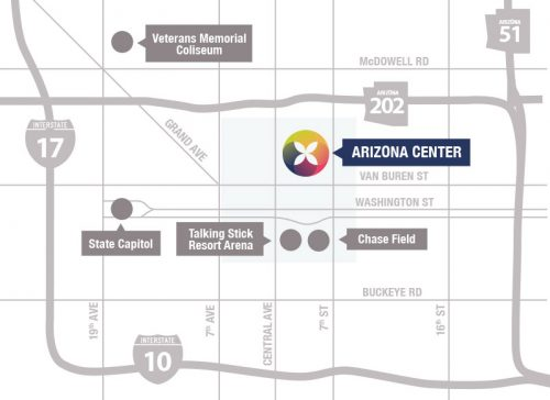A map of Arizona Center